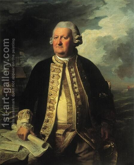 Clark Gayton, Admiral of the White by John Singleton Copley - Reproduction Oil Painting