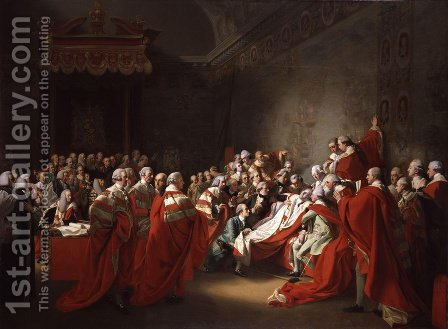 The Collapse of the Earl of Chatham in the House of Lords (or The Death of the Earl of Chatham) by John Singleton Copley - Reproduction Oil Painting