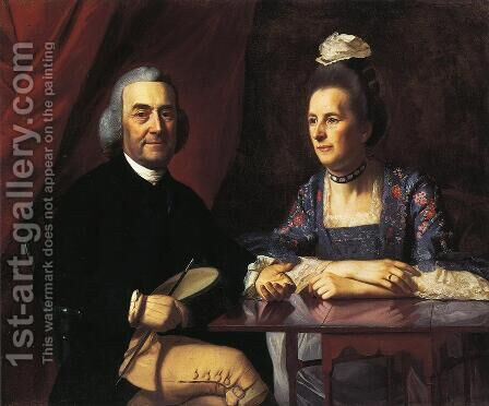Mr. and Mrs. Isaac Winslow (Jemina Debuke) by John Singleton Copley - Reproduction Oil Painting