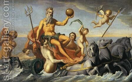 The Return of Neptune by John Singleton Copley - Reproduction Oil Painting