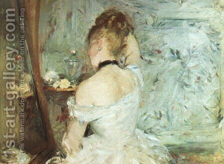 A Woman at her Toilette by Berthe Morisot - Reproduction Oil Painting