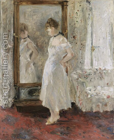 The Cheval Glass by Berthe Morisot - Reproduction Oil Painting