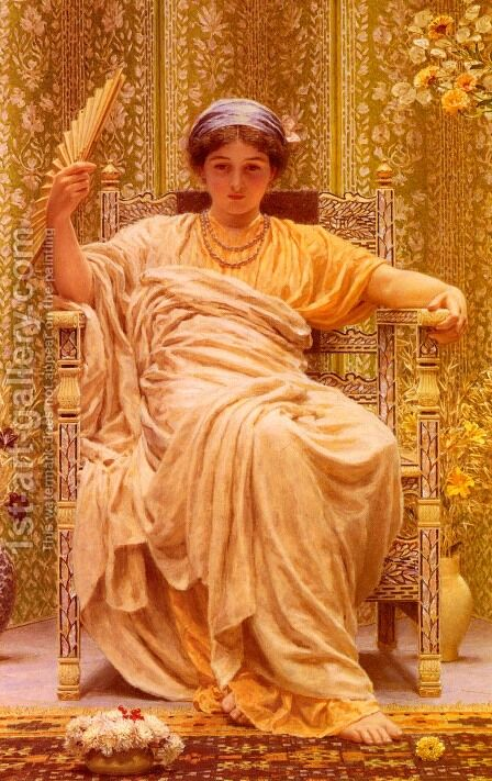 A Reverie by Albert Joseph Moore - Reproduction Oil Painting