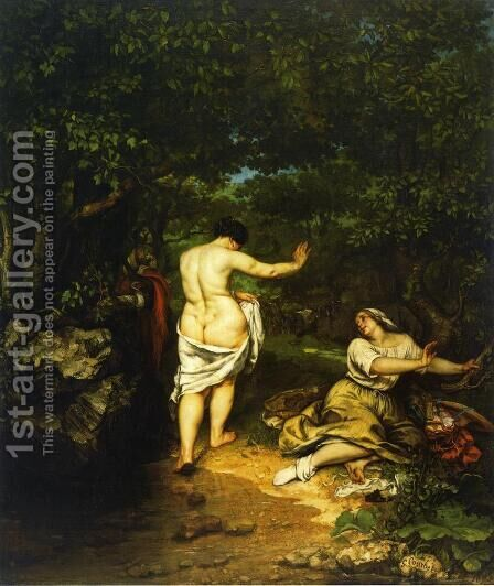 The Bathers by Gustave Courbet - Reproduction Oil Painting