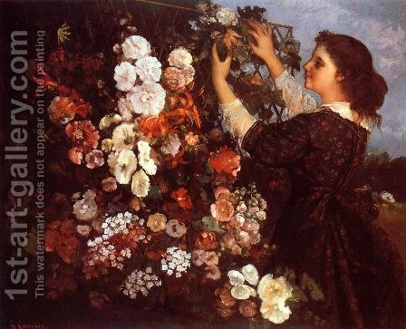 The Trellis by Gustave Courbet - Reproduction Oil Painting