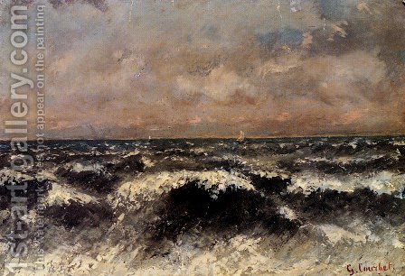 Marine by Gustave Courbet - Reproduction Oil Painting