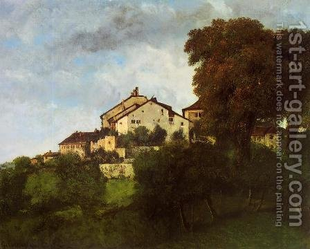 The Houses of the Chateau D'Ornans by Gustave Courbet - Reproduction Oil Painting