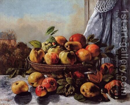 Still Life: Fruit by Gustave Courbet - Reproduction Oil Painting
