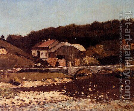 La Ferme De Bonnevaux by Gustave Courbet - Reproduction Oil Painting