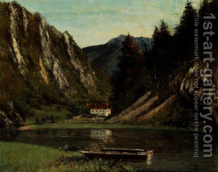 Les Doubs A La Maison-Monsieur by Gustave Courbet - Reproduction Oil Painting