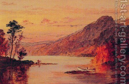 Lake Scene, Catskill Mountains by Jasper Francis Cropsey - Reproduction Oil Painting