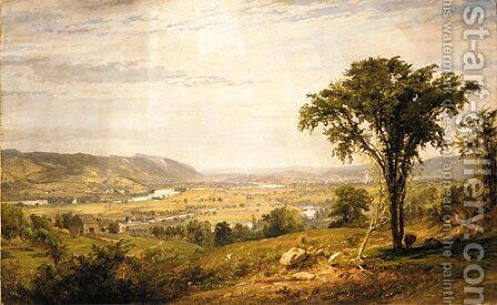 Wyoming Valley, Pennsylvania by Jasper Francis Cropsey - Reproduction Oil Painting