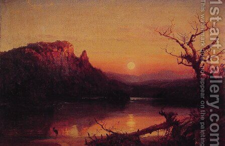 Sunset, Eagle Cliff, New Hampshire by Jasper Francis Cropsey - Reproduction Oil Painting
