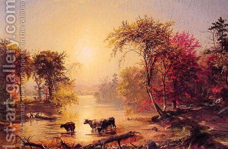 Autumn in America (or The Susquehanna River) by Jasper Francis Cropsey - Reproduction Oil Painting