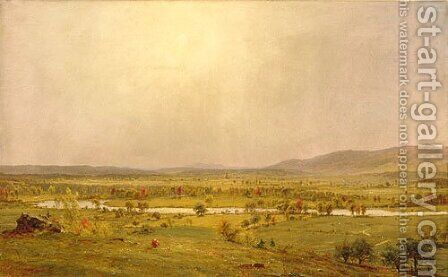 Pompton Plains, New Jersey by Jasper Francis Cropsey - Reproduction Oil Painting