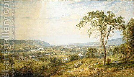 The Valley of Wyoming by Jasper Francis Cropsey - Reproduction Oil Painting