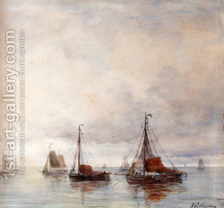 Temps Calme by Hendrik Willem Mesdag - Reproduction Oil Painting