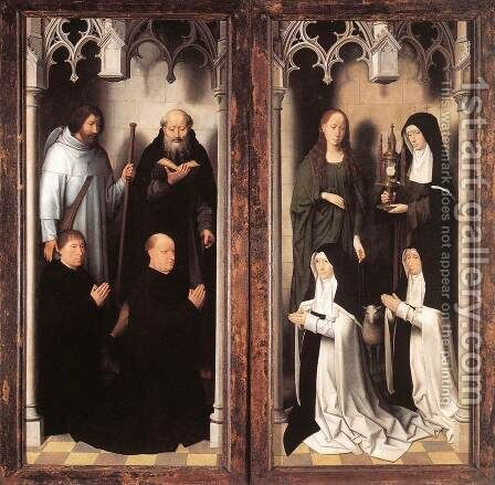 St John Altarpiece [detail: 10, closed] by Hans Memling - Reproduction Oil Painting