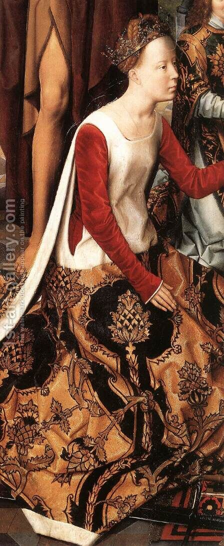 St John Altarpiece [detail: 7, central panel] by Hans Memling - Reproduction Oil Painting