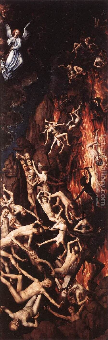 Last Judgment Triptych [detail: 9] by Hans Memling - Reproduction Oil Painting