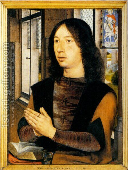 Diptych Of Martin Van Nieuwenhove (pic 2) by Hans Memling - Reproduction Oil Painting