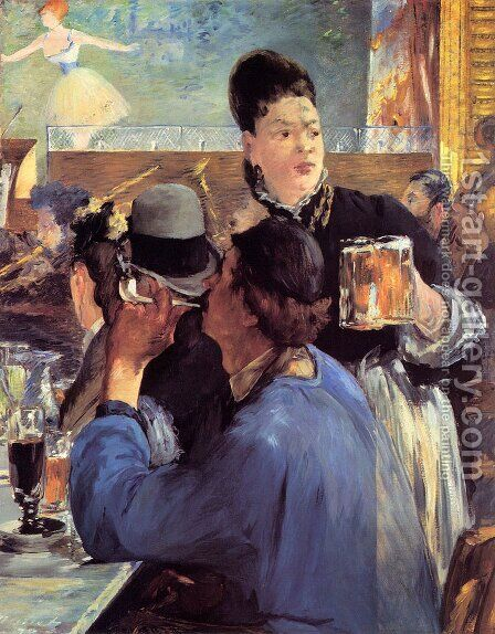 Corner of a Café-Concert by Edouard Manet - Reproduction Oil Painting