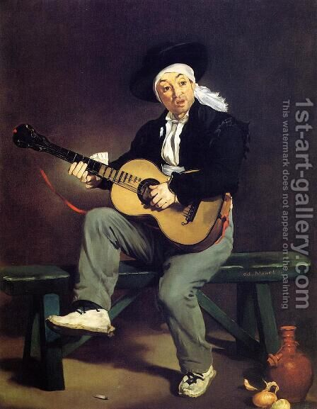 The Spanish Singer (or The Guitar Player) by Edouard Manet - Reproduction Oil Painting
