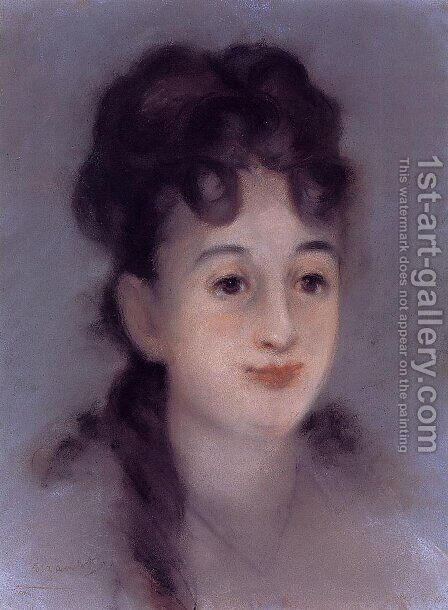 Eva Gonzales by Edouard Manet - Reproduction Oil Painting