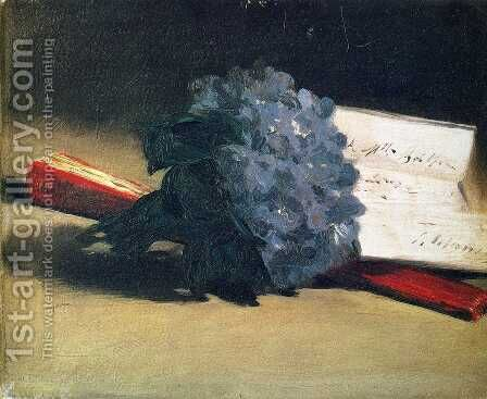 Bouquet Of Violets by Edouard Manet - Reproduction Oil Painting