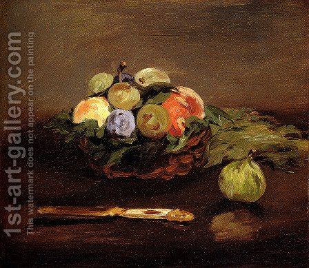Basket Of Fruit by Edouard Manet - Reproduction Oil Painting