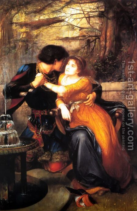 Paolo and Francesca by Edward Charles Halle - Reproduction Oil Painting