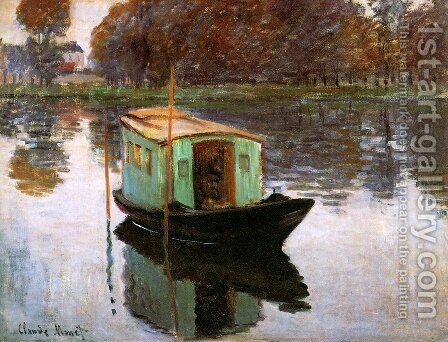 The Studio Boat by Claude Oscar Monet - Reproduction Oil Painting