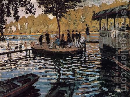 La Grenouillere by Claude Oscar Monet - Reproduction Oil Painting