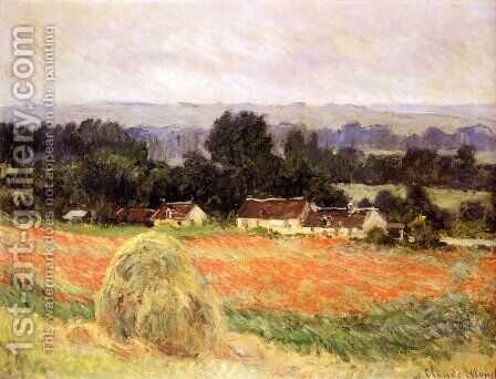 Haystack At Giverny by Claude Oscar Monet - Reproduction Oil Painting