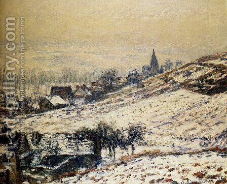 Winter At Giverny 2 by Claude Oscar Monet - Reproduction Oil Painting