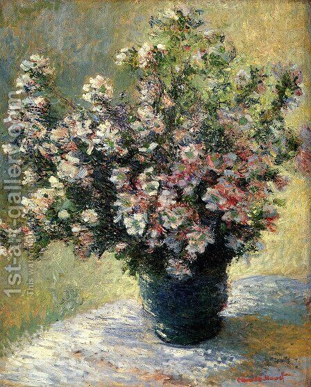 Vase Of Flowers by Claude Oscar Monet - Reproduction Oil Painting