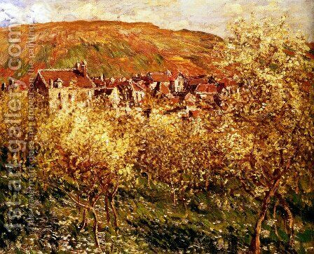 Apple Trees In Blossom by Claude Oscar Monet - Reproduction Oil Painting