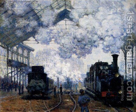 The Gare Saint-Lazare: Arrival Of A Train by Claude Oscar Monet - Reproduction Oil Painting