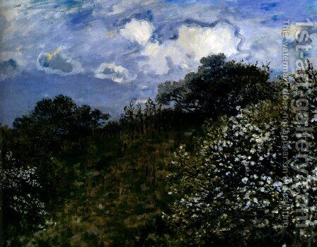 Spring, 1875 by Claude Oscar Monet - Reproduction Oil Painting