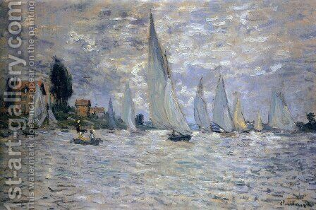 The Boats: Regatta At Argenteuil by Claude Oscar Monet - Reproduction Oil Painting