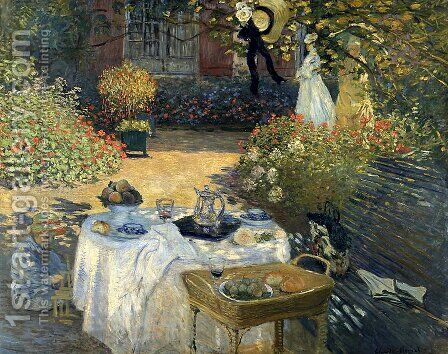 The Luncheon (Monet's Garden At Argenteuil) by Claude Oscar Monet - Reproduction Oil Painting
