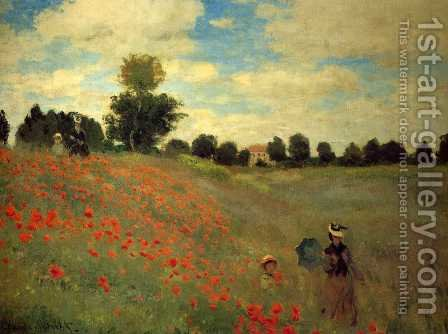 Wild Poppies, Near Argenteuil by Claude Oscar Monet - Reproduction Oil Painting