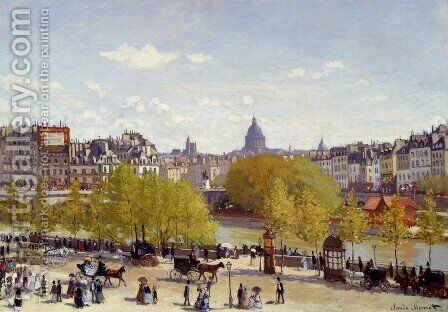 The Quai Du Louvre, Paris by Claude Oscar Monet - Reproduction Oil Painting