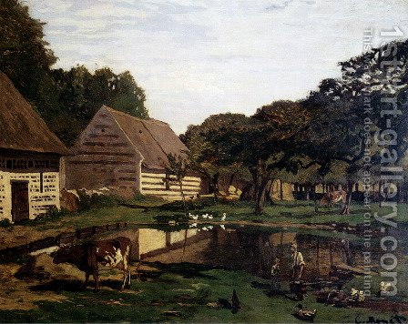 A Farmyard In Normandy by Claude Oscar Monet - Reproduction Oil Painting