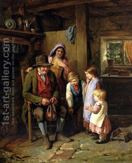 A Welcome Visitor by James Hardy Jnr - Reproduction Oil Painting