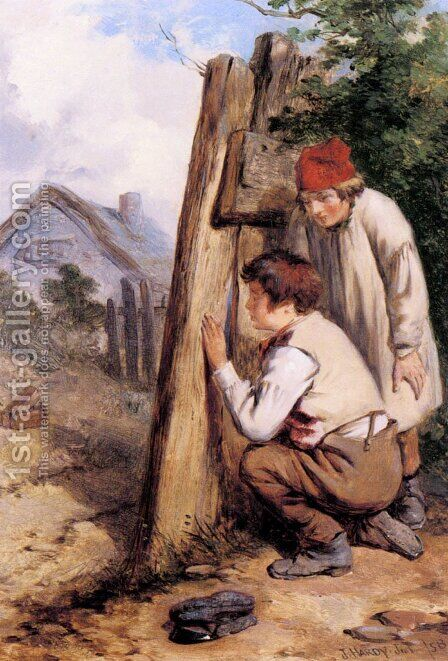 The Bird Catchers by James Hardy Jnr - Reproduction Oil Painting
