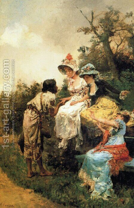Charity by Antonio Lonza - Reproduction Oil Painting