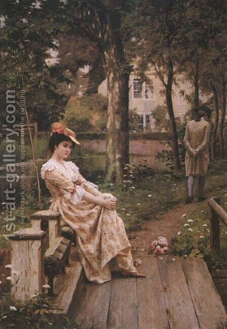 Off by Edmund Blair Blair Leighton - Reproduction Oil Painting