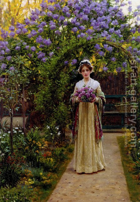 Lilac by Edmund Blair Blair Leighton - Reproduction Oil Painting
