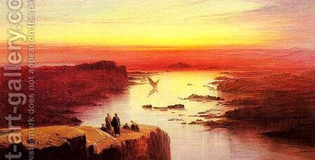 A View Of The Nile Above Aswan by Edward Lear - Reproduction Oil Painting